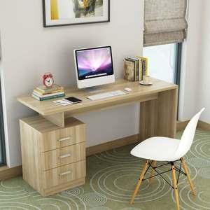 书桌带抽屉的电脑桌学习桌办公桌抽屉简约家用简易<span class=H>桌子</span>卧室台式桌