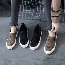 Ayada Lefu Shoes 2018 Spring and Autumn New Leopard-print Flat Bottom Korean Edition Lazy Women's Shoes