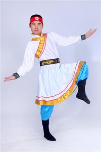 新款蒙古族<span class=H>服装</span>男士蒙古袍 民族<span class=H>服装</span>蒙古族舞蹈演出服<span class=H>男装</span>表演服
