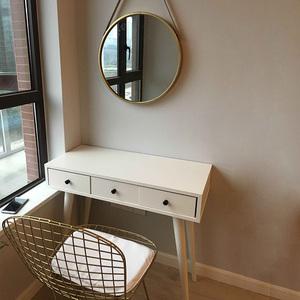 北欧小户型化妆桌卧室<span class=H>梳妆台</span>简约现代迷你化妆桌子书桌经济型60cm