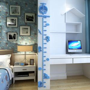 儿童房身高墙贴宝宝装饰<span class=H>贴画</span>自粘卧室测量3d立体身高贴尺可移除