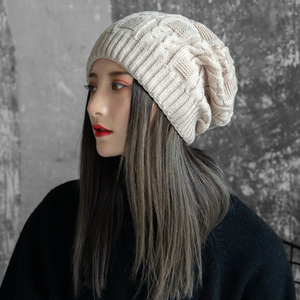 帽子女冬天韩版学生百搭毛线帽女甜美可爱针织帽护耳时尚保暖潮人