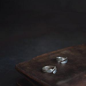 梵树For handmade-《旧�簟� 纯银羽毛<span class=H>戒指</span>/尾戒 男女款
