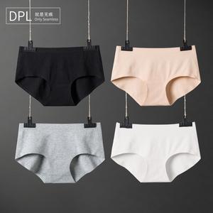 DPL<span class=H>女</span>士纯棉无痕<span class=H>内裤</span><span class=H>女</span>一片式中腰低腰三角全棉大码少<span class=H>女</span>性感棉质
