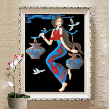 Mona Lisa Cross Embroidery Ashima Harvest New Line Embroidery Bedroom Small Yunnan Ethnic Style Modern Living Room
