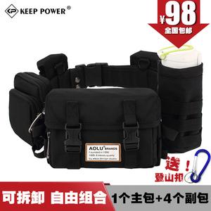 2019加强版多功能包腰包男可拆卸户外运动旅行腰包3D战术腰包