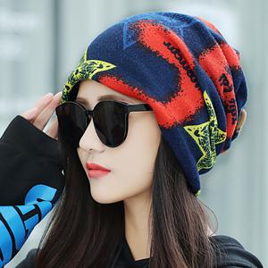 帽子女秋冬天保暖韩版多功能英伦围脖套头帽时尚百搭潮防寒月子帽