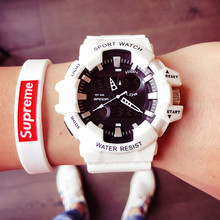 Ins trend ulzzang watches for male and female students Korean version of compact electronic watches non-mechanical waterproof fashion movement trend