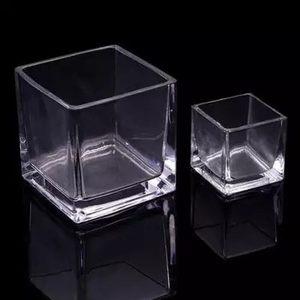 多肉盆玻璃花透明大号瓶正方形水培植物花盆乌龟缸<span class=H>鱼缸</span>插花瓶室内