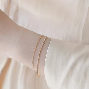 小众设计双层<span class=H>手链</span>女韩版s925纯银冷淡风简约学生个性网红闺蜜森系