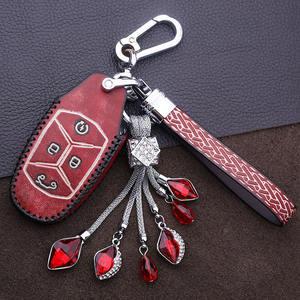 酷唯斯于领克01<span class=H>钥匙包</span>改装汽车钥匙扣头层牛皮领克钥匙套壳男女款