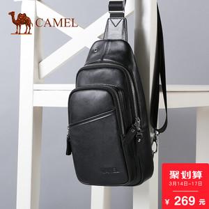 Camel骆驼<span class=H>男包</span>男士胸<span class=H>包</span> 时尚百搭牛皮<span class=H>包包</span>单肩斜挎背<span class=H>包</span><span class=H>旅行</span><span class=H>包</span>