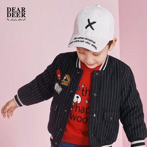 迪迪鹿童装DEAR DEER男小童<span class=H>棉衣</span>2018冬季新款婴童儿童休闲外套