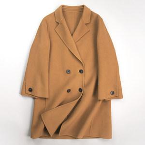 修身小个子羊毛呢子<span class=H>外套</span>2018秋冬新款短款双面羊绒大衣女反季清仓