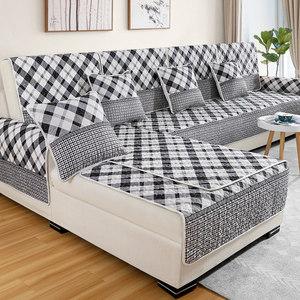 四季防滑布艺沙发<span class=H>坐垫子</span>巾套罩夏季简约现代通用全盖全包欧式时尚