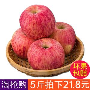 山东烟台红富士<span class=H>苹果</span>新鲜水果5斤包邮纯天然冰糖心<span class=H>苹果</span>脆甜80大 丑