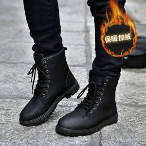 <span class=H>男靴</span>子高帮潮雪地靴鞋带秋季休闲个性黑冬学生冬天男士平底男式