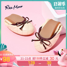 REEMOOR Summer Ballet Single Shoes, Round-Headed Eggroll Shoes, Women's Shoes, Flat-soled Shoes, Ruimu Boat Shoes 261221