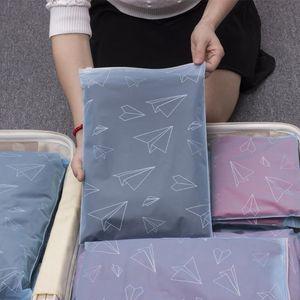 束口文胸衣服收纳袋大容量旅行塑料便携小号内衣包分装杂物加厚女