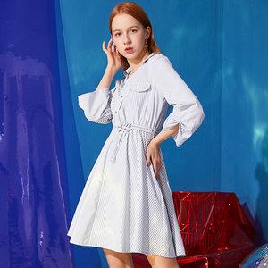 <span class=H>a字裙</span>女2019春新款时尚韩版学院风小个子高腰显瘦连衣裙A1L583256