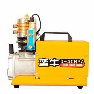 蛮牛气动电动打气机30mpa 高压水冷单缸40mpa 打气筒充气打气泵