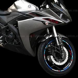 摩托车<span class=H>轮胎</span>贴雅马哈轮毂反光圈贴R1 R3 R6轮毂装饰17寸飞致250