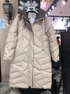 卓依缘18D23假两件<span class=H>羽绒服</span>女中长款2018冬装新款加厚过膝长款外套