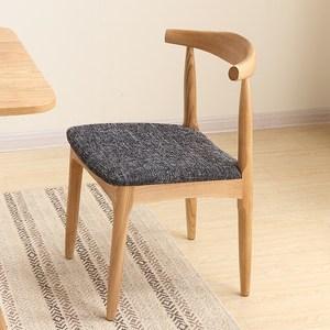 北欧简约水曲柳餐椅家用 全实木<span class=H>软包</span>布艺休闲电脑<span class=H>椅子</span>咖啡厅座椅