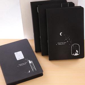 创意影集纪念册记事本空白黑<span class=H>卡纸</span>内页日记本子相册DIY黑色笔记本