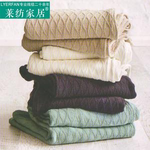 夏季全棉线毯沙发巾毯子办公室午睡空调毯单人薄双人小盖毯<span class=H>毛巾被</span>