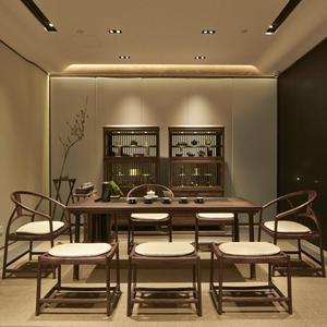 新中式茶桌实木整装小户型客厅家用阳台功夫小茶台办公室<span class=H>家具</span>定制