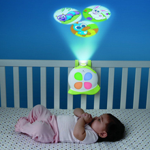 Mybaby Baby Rotary Projection Lamp Bed Bell Sleeping Lamp Sleeping Music Creative Sleeping Electronic Snail