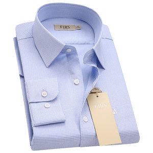 杉杉长袖<span class=H>衬衫</span>男中青年商务休闲2018春新款桑蚕丝格子衬衣CS43299