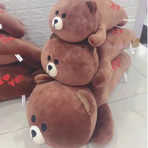 趴款布朗熊<span class=H>抱枕</span>卡通趴姿小熊<span class=H>靠垫</span>可爱礼物抱抱熊<span class=H>公仔</span>玩偶毛绒玩具