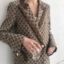 Tan Yanmi Suit Jacket Female Korean Version 2019 British Wind Spring Retro Simple Baitachic Small Suit