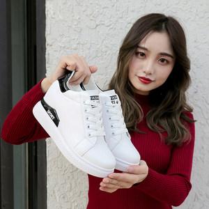 2018春季新款单鞋女鞋子低帮鞋韩版时尚学生圆头<span class=H>高跟鞋</span>内增高