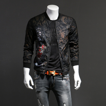 Personal Flower Jacket Men's Fashion Slim Jacket Men's Leisure Fashion Printed Jacket Spring Size Jacket