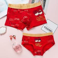 Underwear couple underwear style 2018 new couple style winter girl red marriage other / other hip lift