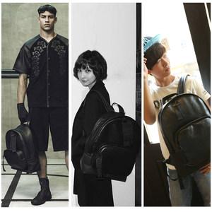 欧美风2019新款双肩书包简约大容量男女情侣背包潮流背包旅游背包