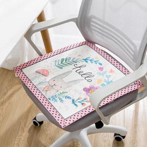 坐垫夏天透气教室椅子冰垫凳子办公室夏季通用冰丝椅垫家用座垫子