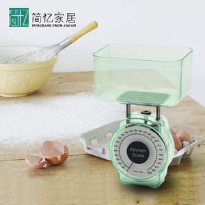 日本家用厨房秤计量秤称重器烘焙料理称迷你台秤机械弹簧重量称