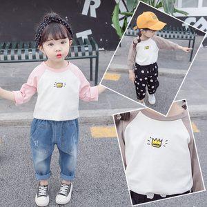女童2019春季新款T恤长袖1-2-3-4岁儿童外穿洋气<span class=H>打底衫</span>5女宝百搭