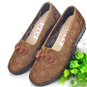 老北京太太奶奶布鞋女夏老年人软底