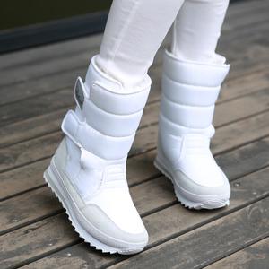 2019冬季新款女鞋防水防滑<span class=H>雪地靴</span>女靴中筒短靴厚底加绒雪地鞋棉鞋