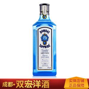 孟买 蓝宝石<span class=H>金酒</span>Bombay Sapphire Gin<span class=H>金酒</span>琴<span class=H>酒</span><span class=H>杜松子</span><span class=H>酒</span>750mL 英国