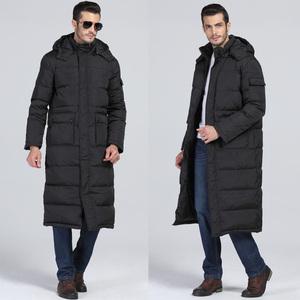冬季男士长款<span class=H>棉衣</span> 加长加厚过膝长款加大码带帽户外运动棉服大衣