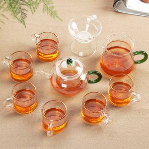 加厚玻璃功夫<span class=H>茶具</span>套装家用耐热高温过滤透明玻璃泡茶普洱花草茶壶