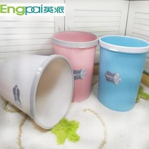 包邮正品英派带压边<span class=H>垃圾桶</span>家用大号加厚垃圾筒塑料卫生间卫生桶