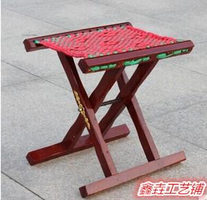折叠凳 马扎超值热卖便携 实木马扎住宅<span class=H>家具</span>折叠实木马扎凳