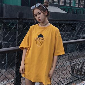 裙子女夏ulzzang原宿风ins超火短袖t恤2018韩版学生百搭半袖上衣